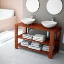 Armário de banheiro de madeira Cedar