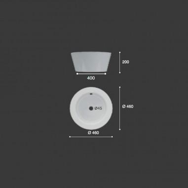 Lavabo cerámica extra grueso sobre encimera Menfis