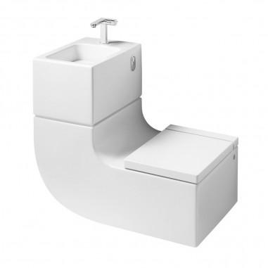 Inodoro con lavabo suspendido W+W