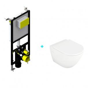Pack de inodoro suspendido Verona rimless y cisterna empotrada