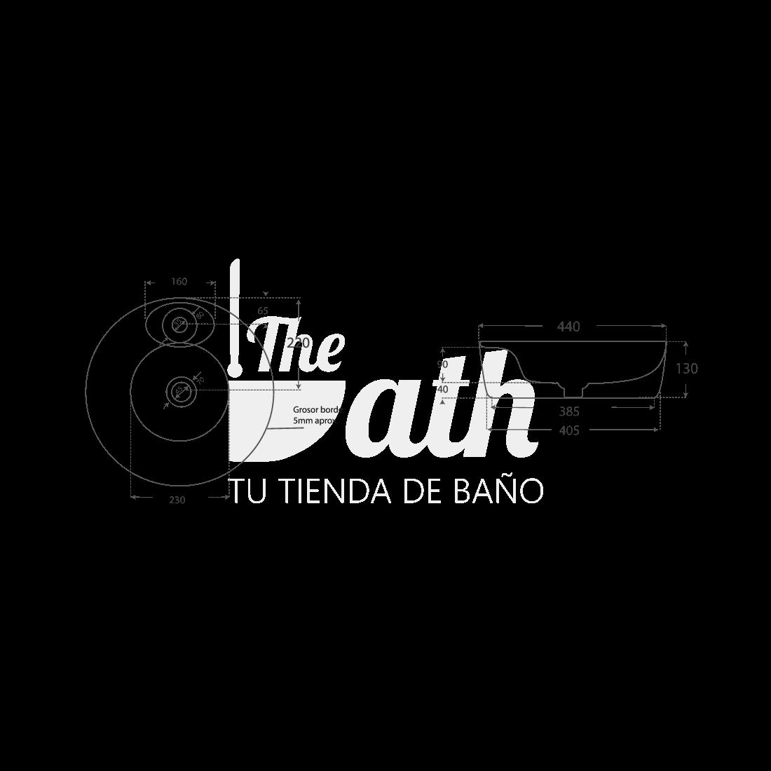 ▷ Lavabo sobre encimera Adalis -【Fossil Natura】- TheBath