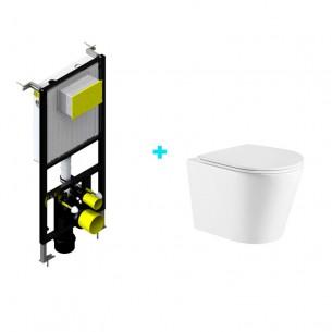 Pack cisterna empotrada + inodoro Jaira