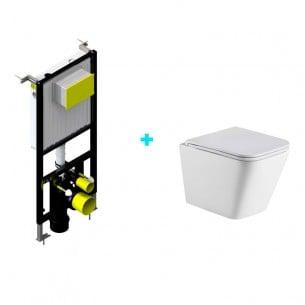 Pack wc Lucca suspendido + cisterna empotrada