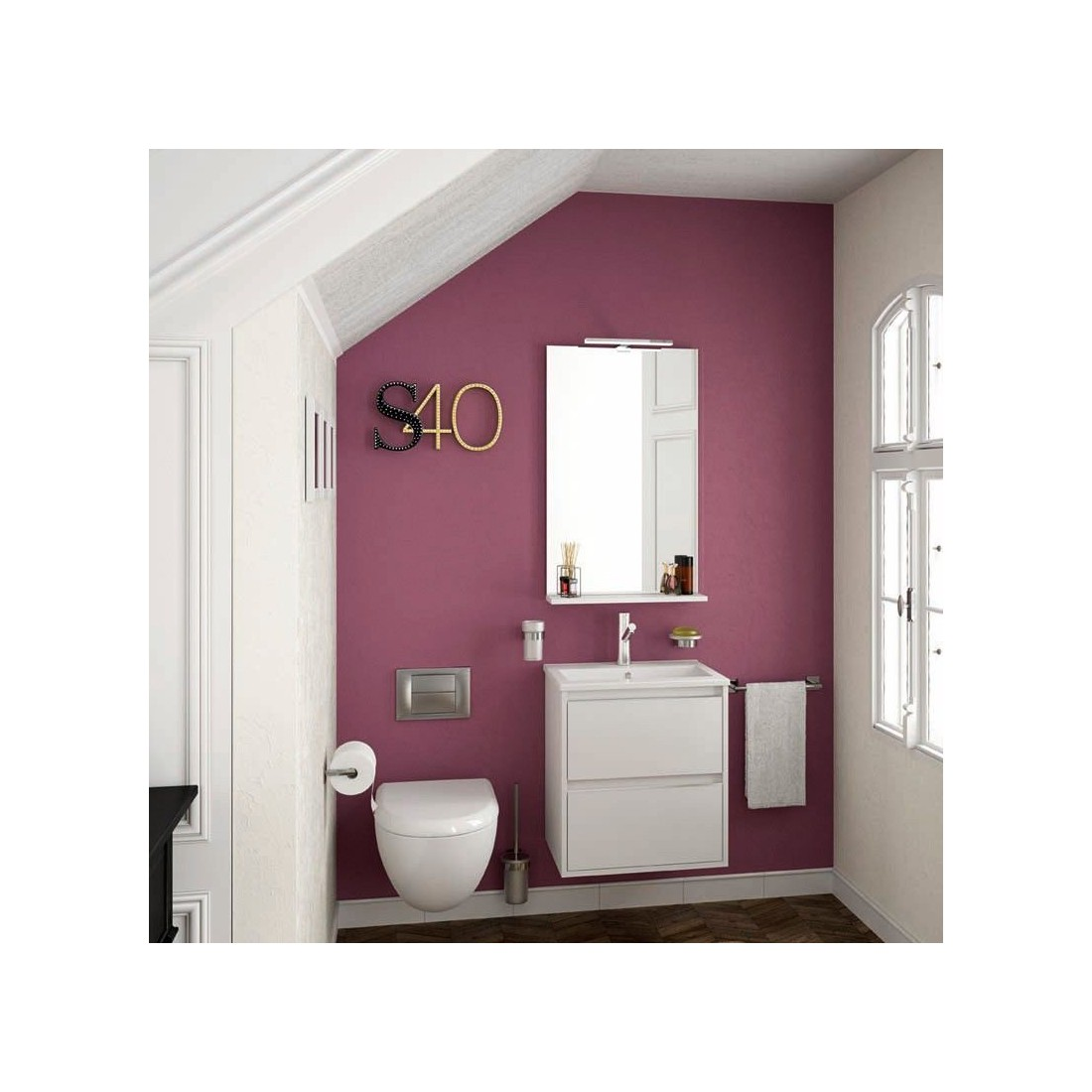Mueble de ba o serie40 the bath for Lavabo fondo reducido