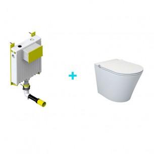 Pack inodoro inteligente Lingen + cisterna compacta