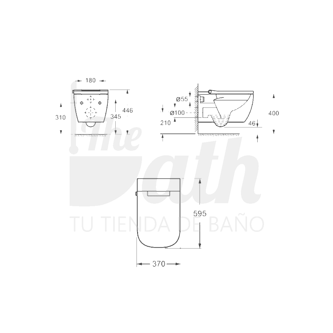 ▷ Inodoro Inteligente -【Sistema Rimless】- TheBath