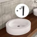 Pack lavabo Ada + grifo Flat