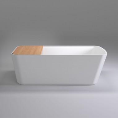 Bañera Pibor con estante de Bambú
