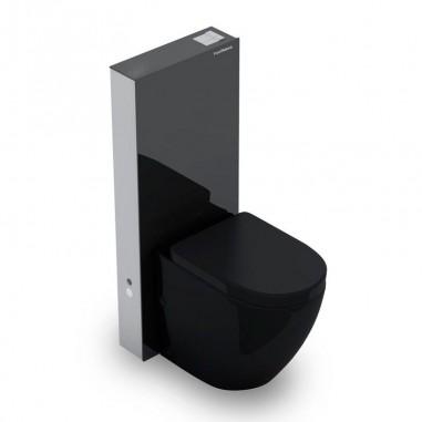 Pack Suspendido Compacto Cisterna Vista Black Compacta + Inodoro Verona Black Compacto