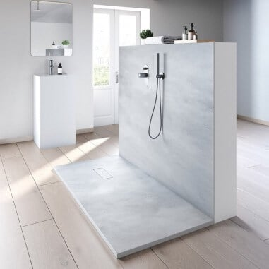 Plato de ducha resina textura Cement