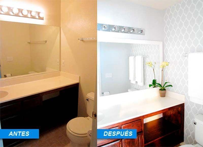 antes y despues de la reforma del baño
