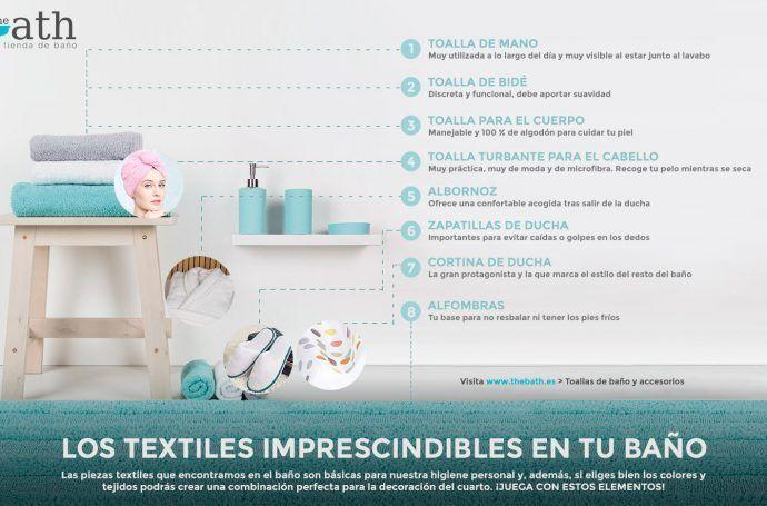 Textiles para baños