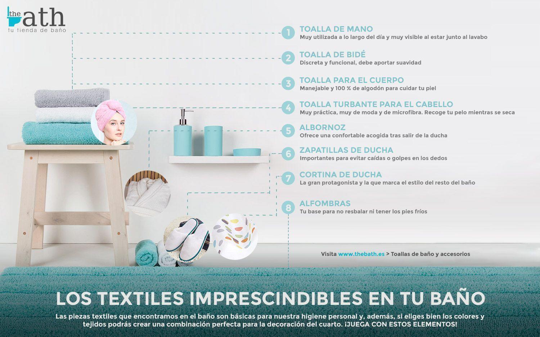 Los textiles para el baño inprescindinbles