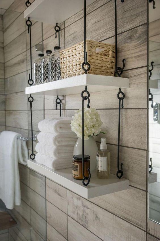 Repisa paredes baño
