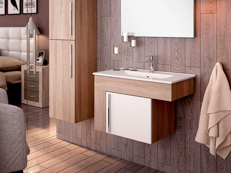 Suelo del baño de madera
