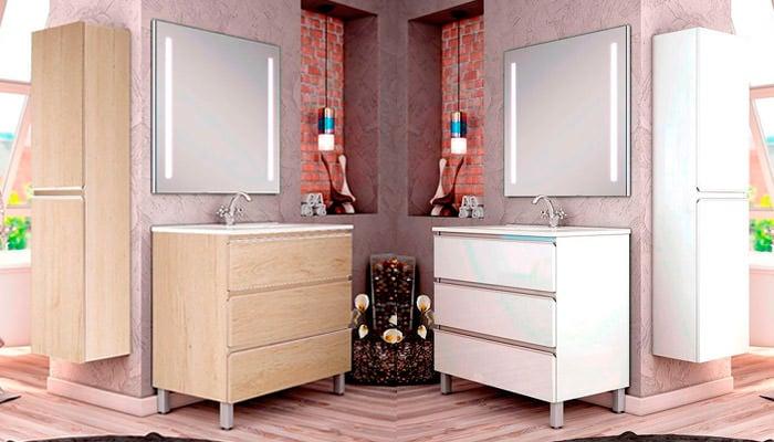 Muebles de baño con patas