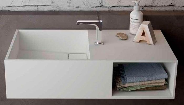 Muebles de baño con fondo reducido
